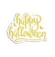 Happy Halloween Calligraphy vector image vector image