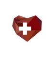 heart diamond health vector image vector image