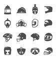 helmets for sport motorbike bicycle fencing vector image vector image