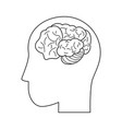 human brain isolated vector image