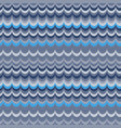 ikat wave blue seamless pattern vector image vector image