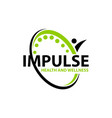 impulse health and wellness vector image vector image