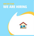 join our team busienss company home we are hiring vector image vector image