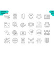 linear icon set 3 - internet of things vector image vector image
