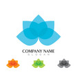 lotus logo template vector image vector image