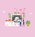 maternity or pregnancy happy couple with love and vector image