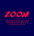 modern font design vector image vector image