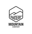 mountain graphic design template vector image vector image