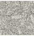 Music Sketchy Doodles Hand-Drawn vector image
