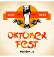 Oktoberfest vintage background Typographic poster vector image vector image