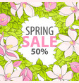 poster with the inscription on the spring sale vector image vector image