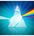 Prism Spectrum on Blue Background vector image