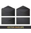 realistic black envelope mockups vector image vector image