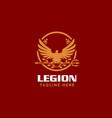 roman legionnaire eagle symbol vector image vector image