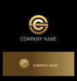 round letter c gold logo vector image vector image