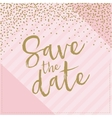 save the date hand drawn with confetti pink vector image