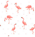 seamless hawaiian pattern with pink flamingos vector image