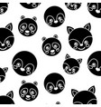 seamless pattern cute animals face image vector image vector image