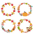 set of isolated autumn frames vector image vector image