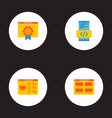 set of wd icons flat style symbols with products vector image vector image