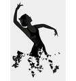 silhouette of spanish flamenco dancer isolated on vector image vector image