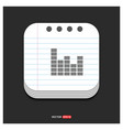 sound beats icon gray icon on notepad style vector image vector image