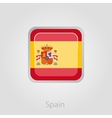 Spanish flag button vector image vector image