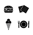 street food simple related icons vector image vector image