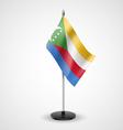 Table flag of Comoros vector image vector image