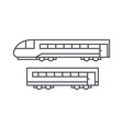 train thin line icon concept train linear vector image vector image