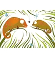 Two Childish Colorful Lizards with Insects in vector image vector image