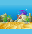 underwater scene with coral reef vector image vector image
