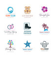 various corporate business logo design set vector image