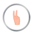 Victory sign icon in cartoon style isolated on vector image vector image