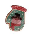 year bull gingerbread on a white vector image vector image