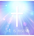 Hi is Risen Happy Easter Blue Background with vector image