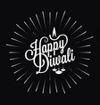 diwali festival logo star burst design background vector image