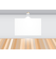 Empty room with white frame vector image
