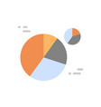 pie diagram icon colorful financial business chart vector image