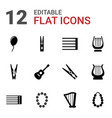 12 string icons vector image vector image