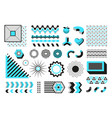 abstract geometric shapes modern memphis line vector image