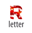 Abstract logo letter R made of colorful splash vector image vector image