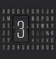 airport flip board alphabet for flight departure vector image vector image
