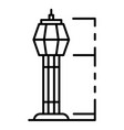 airport tower icon outline style vector image vector image
