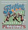 american football playoff vector image vector image