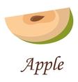 Apple slice vector image vector image