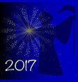 auld lang syne 2017 vector image vector image