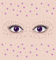 beautiful female eyes vector image vector image