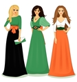beautiful girls vector image vector image