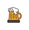 beer mug foam oktoberfest icon line filled vector image vector image